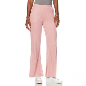 NWT Soft & Cozy Luxe Knit Ribbed Pants Medium Pink
